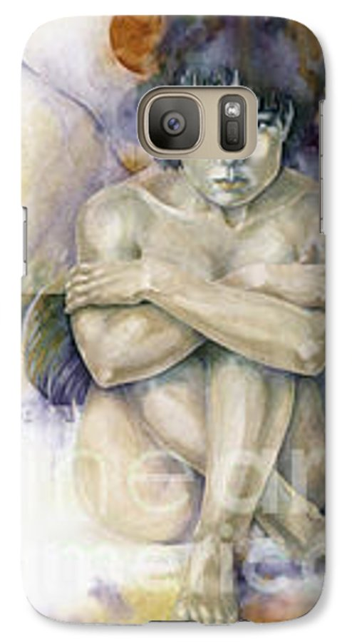 Angel Galaxy S7 Case featuring the painting Tessera First Awareness by Wendy Froshay