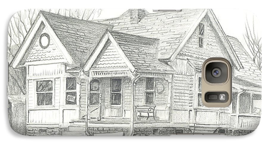 The Antique Shop Galaxy S7 Case featuring the drawing The Antique Shop by Kip DeVore