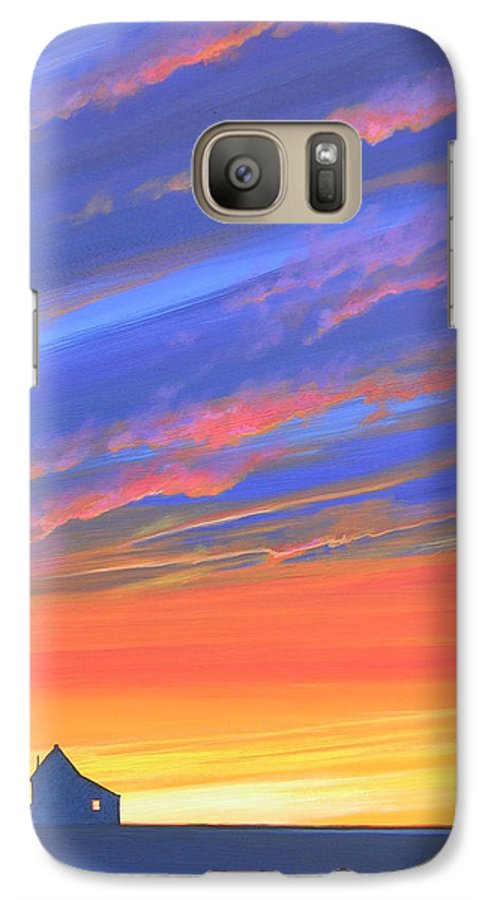 Sunset Galaxy S7 Case featuring the painting The Aunt's House by Hunter Jay