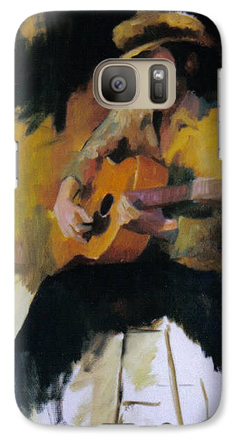 Man Galaxy S7 Case featuring the painting The Blues Man by John L Campbell