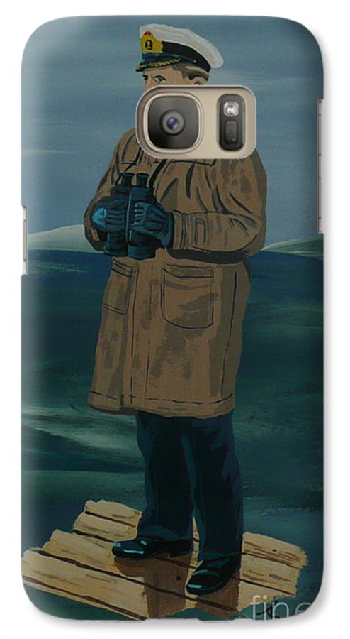 Captain Galaxy S7 Case featuring the painting The Captain by Anthony Dunphy