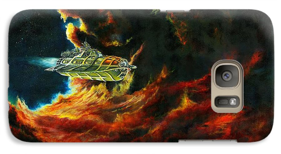 Devil Galaxy S7 Case featuring the painting The Devil's Lair by Murphy Elliott