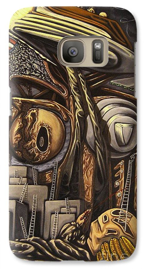 Surreal Galaxy S7 Case featuring the painting The Dow Itcher by Mack Galixtar