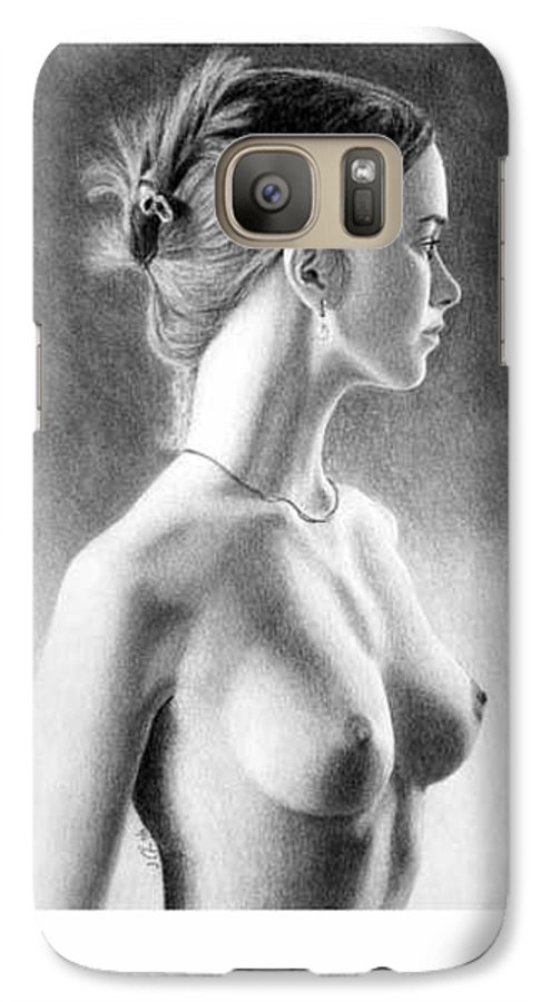 Pastel Galaxy S7 Case featuring the painting The Girl With The Glass Earring by Joseph Ogle