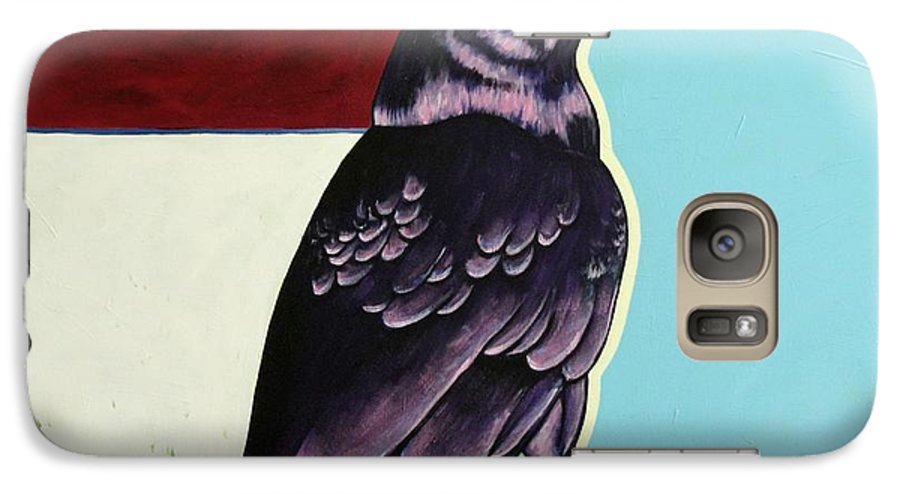Wildlife Galaxy S7 Case featuring the painting The Gossip - Raven by Joe Triano