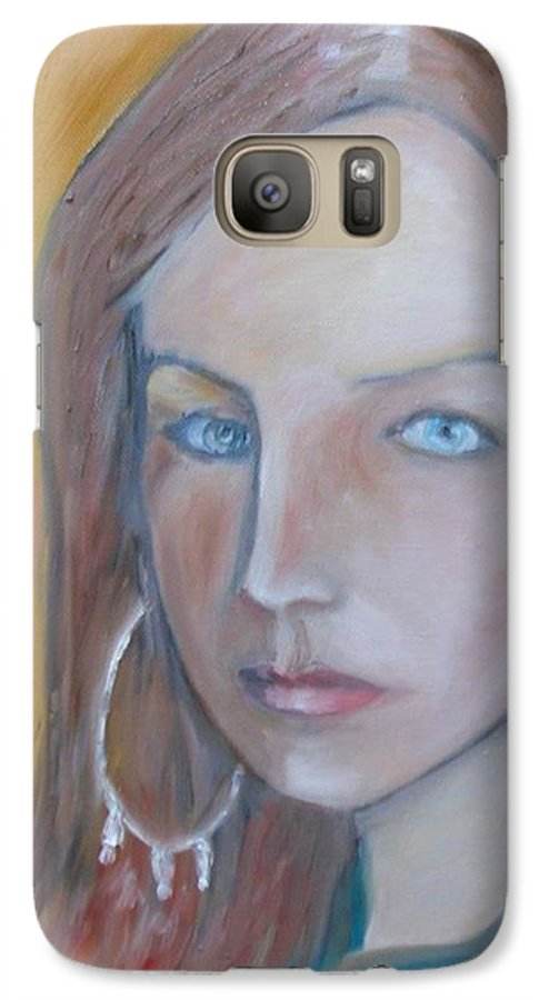 Portraiture Galaxy S7 Case featuring the painting The H. Study by Jasko Caus