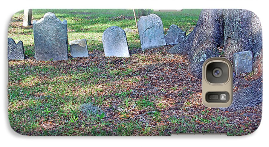Grave Galaxy S7 Case featuring the photograph The Headstones Of Slaves by Suzanne Gaff