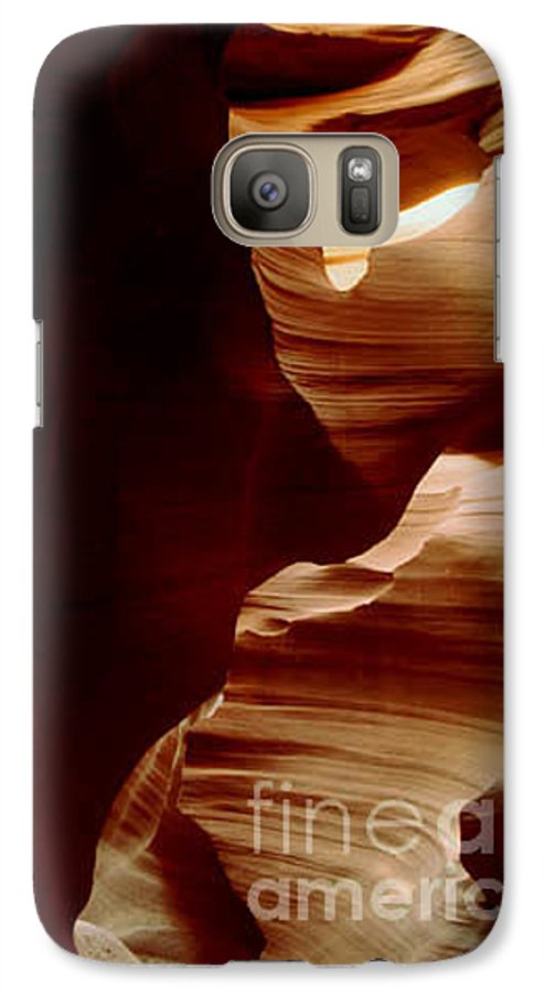 Landscape Galaxy S7 Case featuring the photograph The Heart Of Antelope Canyon by Kathy McClure
