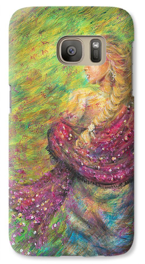 Lady Galaxy S7 Case featuring the painting The Magdelene by Nik Helbig
