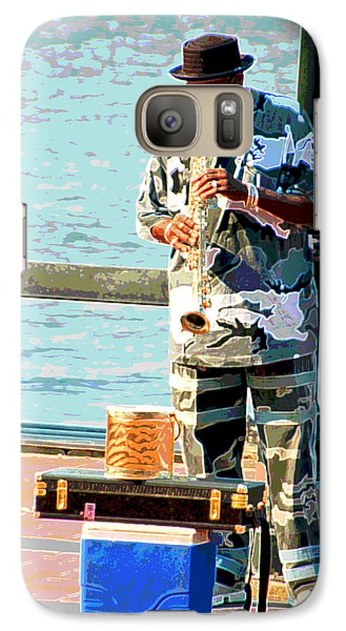 Soprano Saxophone Galaxy S7 Case featuring the photograph The Music Man by Suzanne Gaff