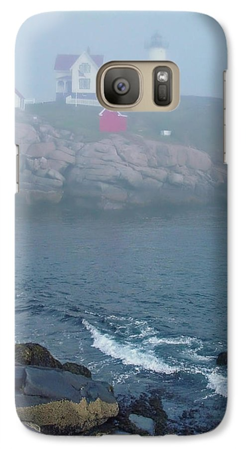 Nubble Lighthouse Galaxy S7 Case featuring the photograph The Nubble Lighthouse At York Maine by Suzanne Gaff