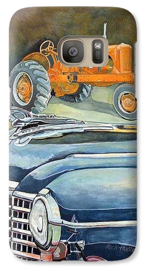 Rick Huotari Galaxy S7 Case featuring the painting The Old Farm by Rick Huotari