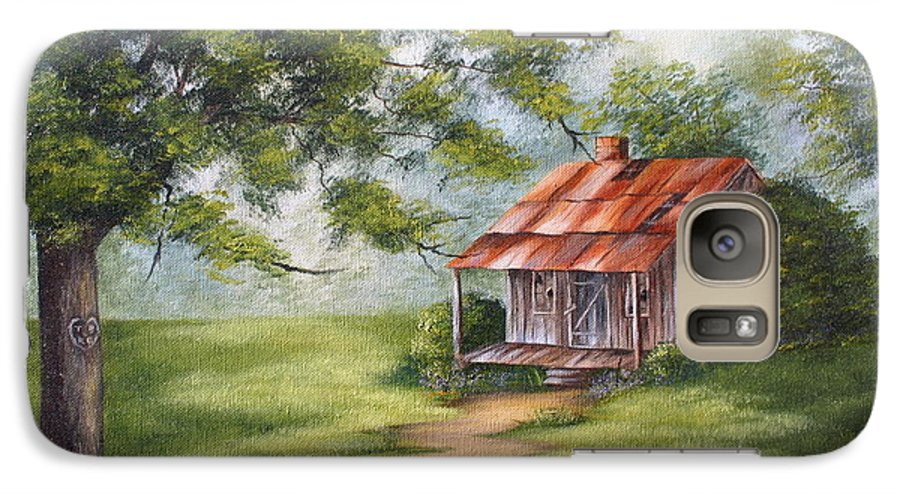 Oil Galaxy S7 Case featuring the painting The Old Homestead by Ruth Bares