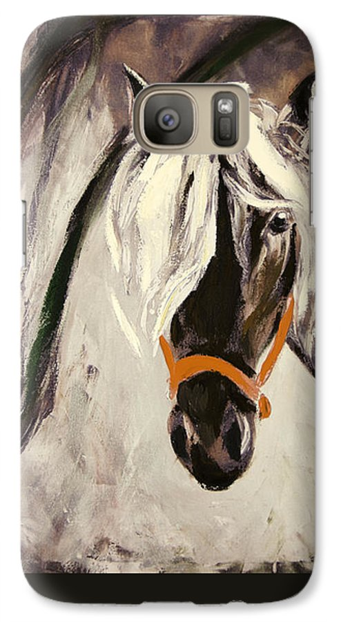 Horses Galaxy S7 Case featuring the painting The Performer by Gina De Gorna