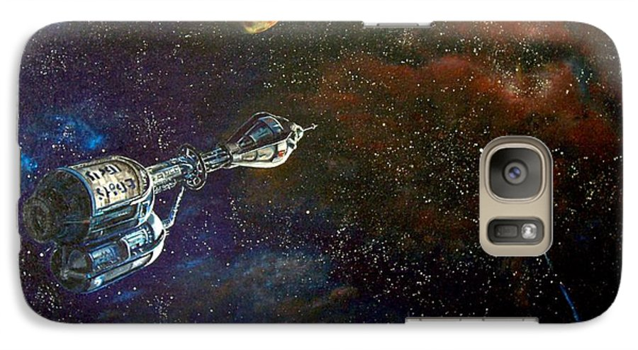 Vista Horizon Galaxy S7 Case featuring the painting The Search For Earth by Murphy Elliott