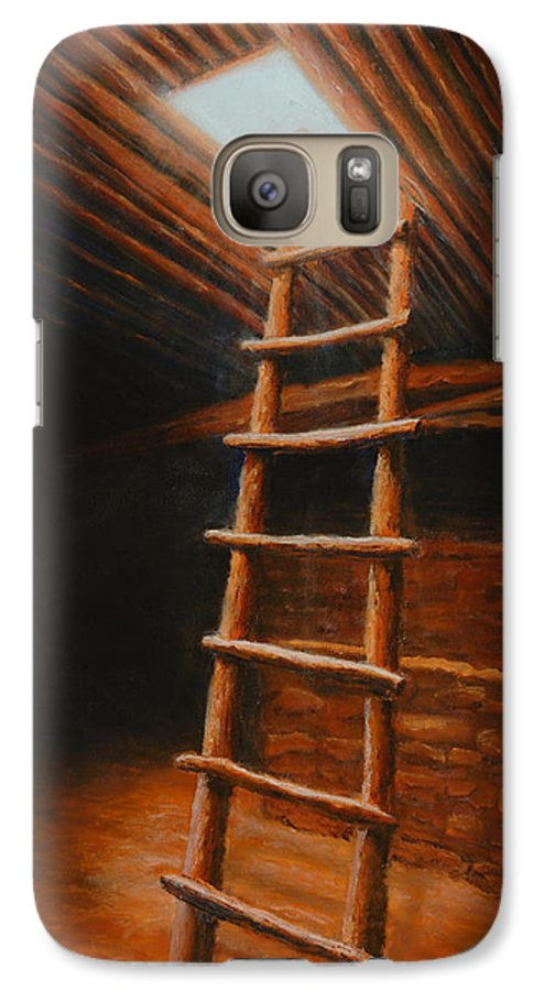 Kiva Galaxy S7 Case featuring the painting The Second World by Jerry McElroy