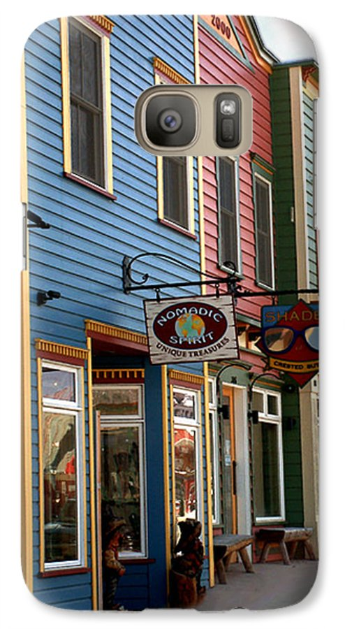 Landscape Galaxy S7 Case featuring the photograph The Shops In Crested Butte by RC DeWinter