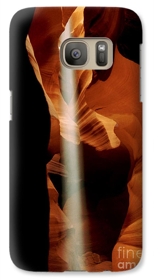 Antelope Canyon Galaxy S7 Case featuring the photograph The Source by Kathy McClure