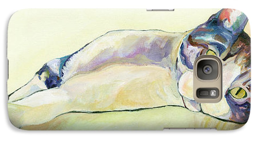Pat Saunders-white Canvas Prints Galaxy S7 Case featuring the painting The Sunbather by Pat Saunders-White