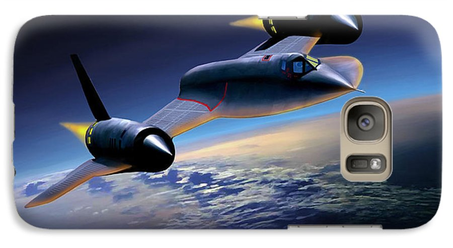 Airplane Galaxy S7 Case featuring the painting The Untouchable Sr-71 Blackbird by Mark Karvon