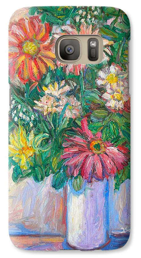 Still Life Galaxy S7 Case featuring the painting The White Vase by Kendall Kessler