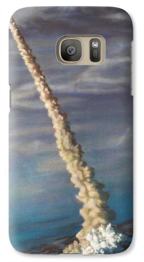 Rocket Galaxy S7 Case featuring the painting Throttle Up by Sean Connolly