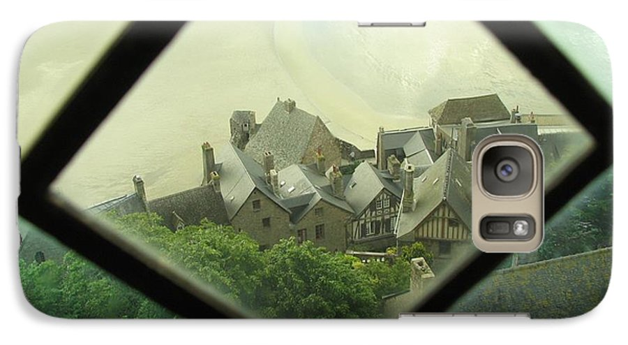 Le Mont St-michel Galaxy S7 Case featuring the photograph Through A Window To The Past by Mary Ellen Mueller Legault