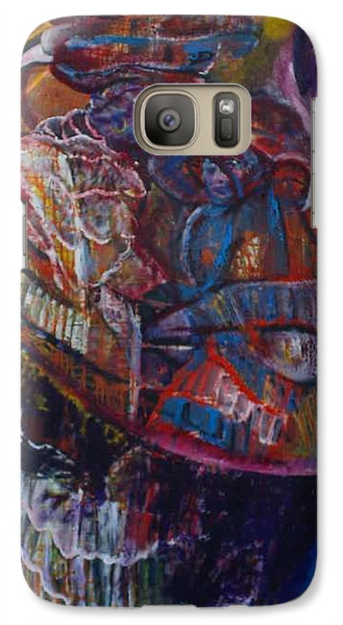 African Women Galaxy S7 Case featuring the painting Tikor Woman by Peggy Blood