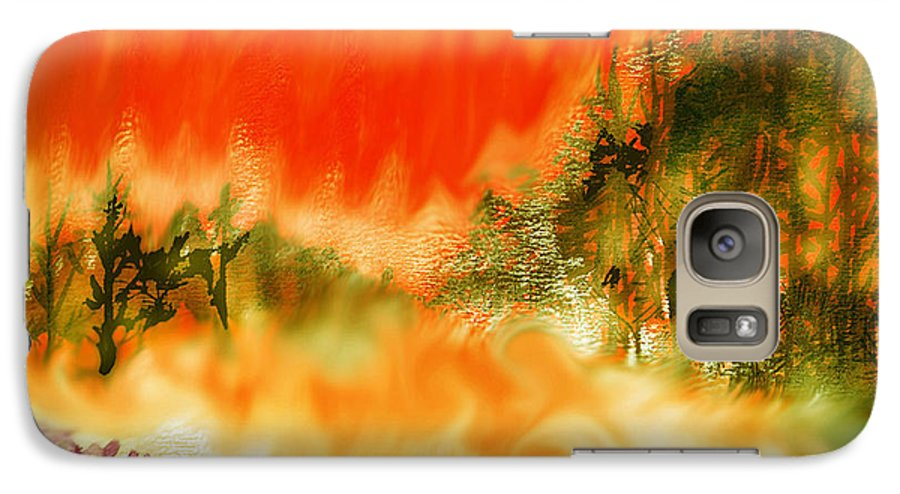 Timber Blaze Galaxy S7 Case featuring the mixed media Timber Blaze by Seth Weaver
