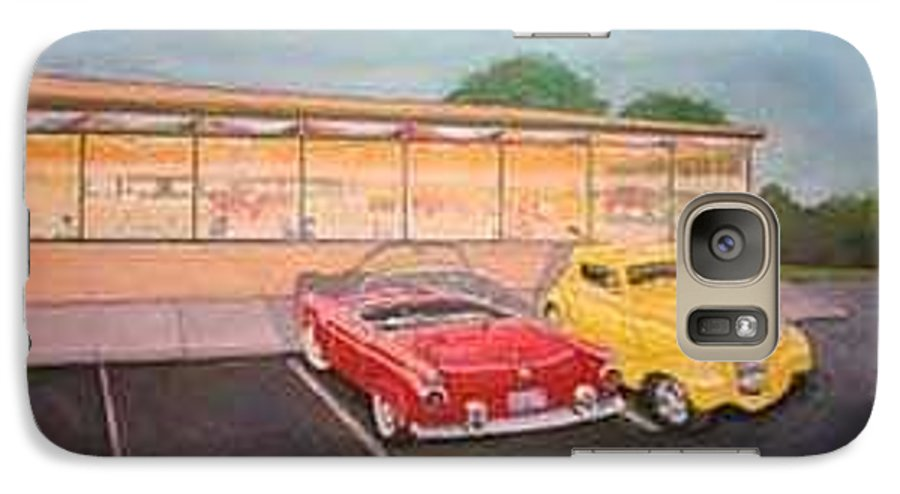 Rick Huotari Galaxy S7 Case featuring the painting Times Past Diner by Rick Huotari