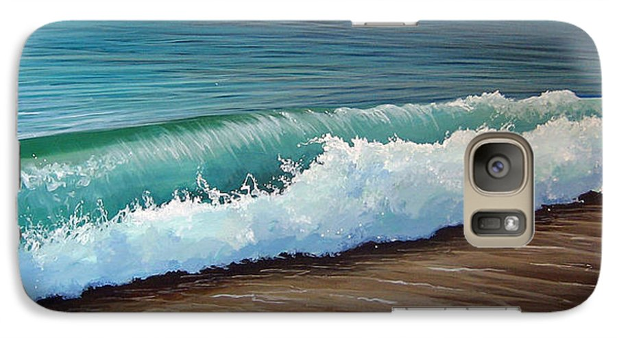 Wave On A Florida Beach Galaxy S7 Case featuring the painting To The Shore by Hunter Jay