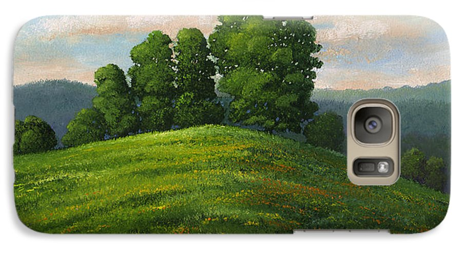 Landscape Galaxy S7 Case featuring the painting Toboggan Hill by Frank Wilson