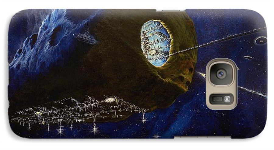 Oil Galaxy S7 Case featuring the painting Tomorrow by Murphy Elliott