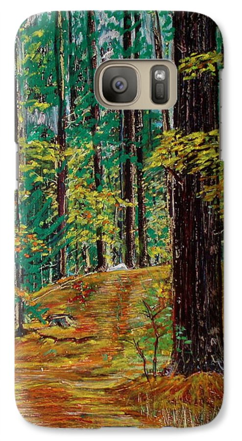 New Hampshire Galaxy S7 Case featuring the pastel Trail At Wason Pond by Sean Connolly