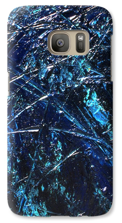 Abstract Galaxy S7 Case featuring the painting Transitions I by Dean Triolo