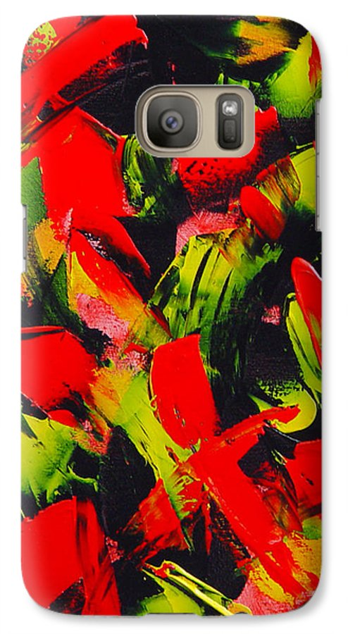 Abstract Galaxy S7 Case featuring the painting Transitions IIi by Dean Triolo