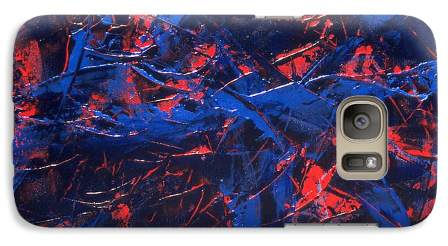 Abstract Galaxy S7 Case featuring the painting Transitions Iv by Dean Triolo