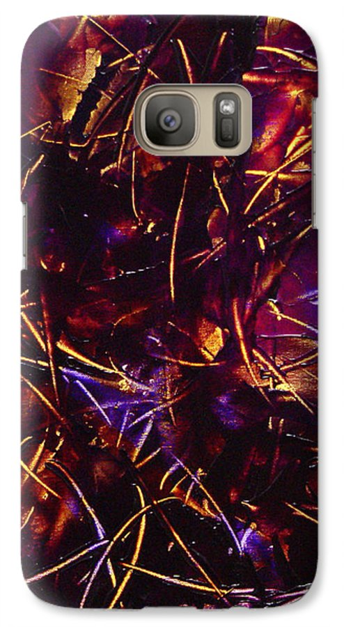 Abstract Galaxy S7 Case featuring the painting Transitions X by Dean Triolo
