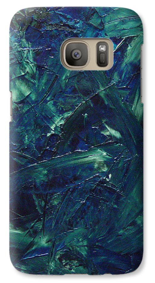 Abstract Galaxy S7 Case featuring the painting Transtions Xi by Dean Triolo