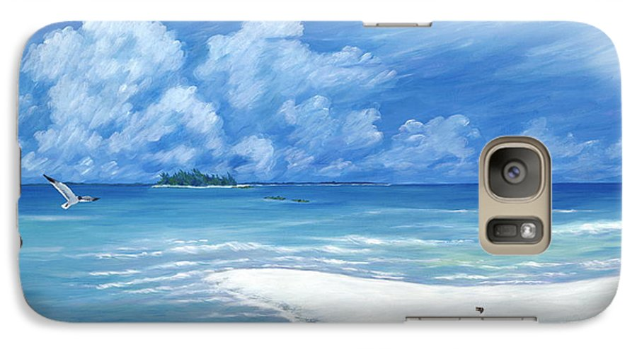Seascape Galaxy S7 Case featuring the painting Treasure Cay by Danielle Perry