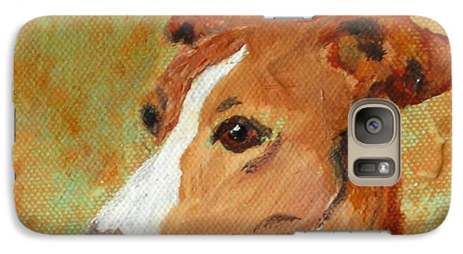 Acrylic Galaxy S7 Case featuring the painting Treasured Moments by Cori Solomon