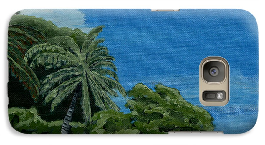 Beach Galaxy S7 Case featuring the painting Tropical Beach by Anthony Dunphy