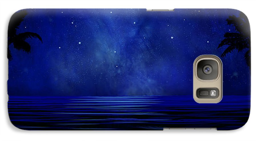 Tropical Dreams Galaxy S7 Case featuring the painting Tropical Dreams Wall Mural by Frank Wilson