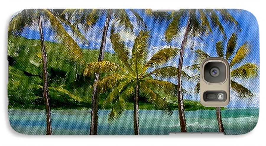 Summer Galaxy S7 Case featuring the painting Tropical Paradize by Inna Montano