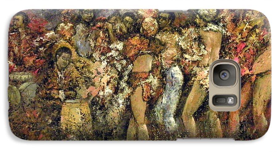 Tropicana Galaxy S7 Case featuring the painting Tropicana Havana by Tomas Castano