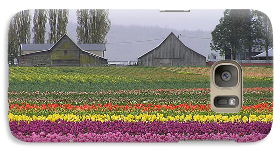 Tulips Galaxy S7 Case featuring the photograph Tulip Town Barns by Louise Magno