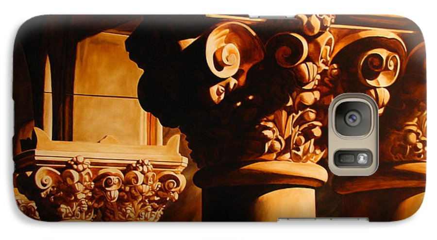 Corinthian Columns Galaxy S7 Case featuring the painting Turn Of The Century by Keith Gantos