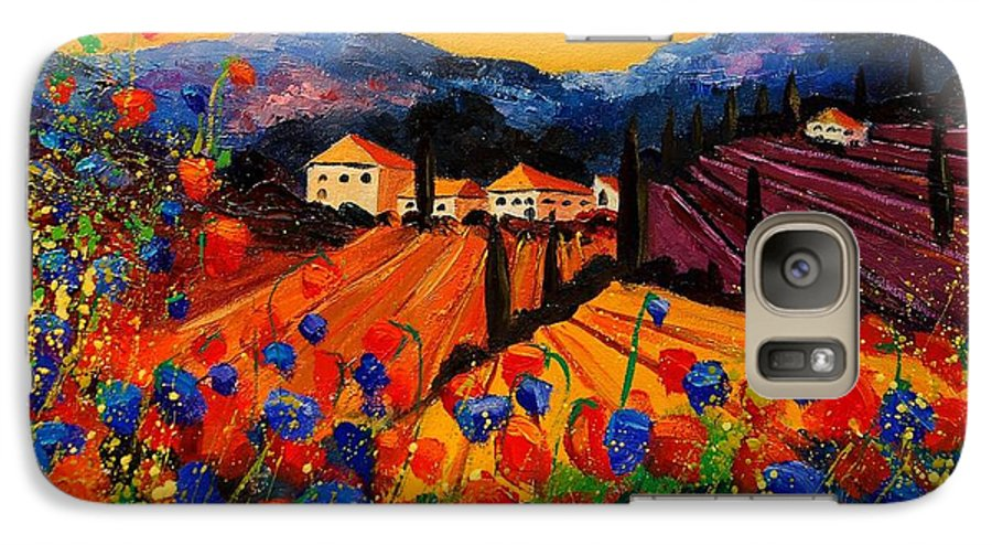 Poppies Galaxy S7 Case featuring the painting Tuscany Poppies by Pol Ledent