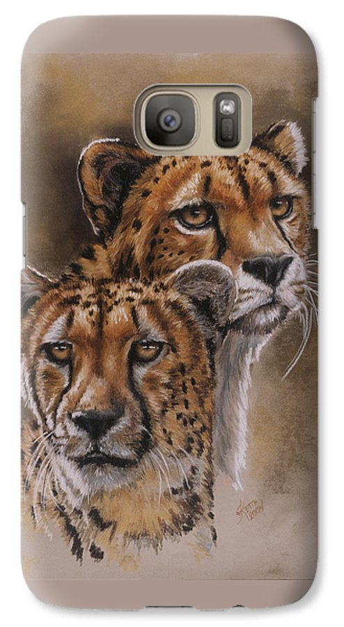 Cheetah Galaxy S7 Case featuring the pastel Twins by Barbara Keith