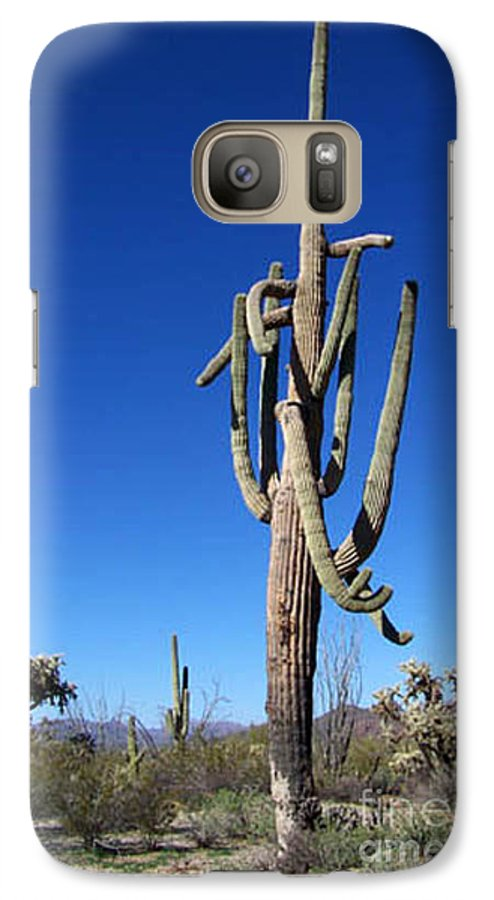 Sahuaro Galaxy S7 Case featuring the photograph Twisted Sentinal by Kathy McClure
